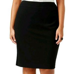 Nine West Black Womens Size 16W Plus Stretch Skirt